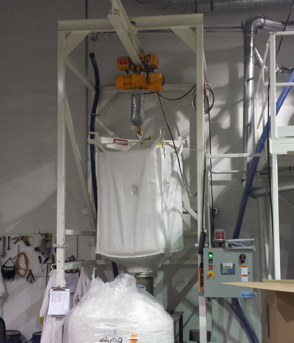 Custom Packaging Machinery Fabrication | Bulk Bag Loading System | Right Stuff Equipment Denver Colorado USA