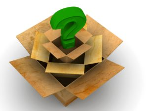 Boxes with a question mark